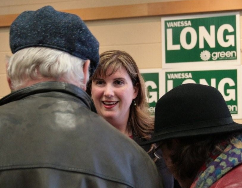 Vanessa meets residents at the Newmarket debate